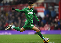 Preston's Callum Robinson crosses the ball<br /> <br /> Photographer Jonathan Hobley/CameraSport<br /> <br /> The EFL Sky Bet Championship - Brentford v Preston North End - Saturday 10th February 2018 - Griffin Park - Brentford<br /> <br /> World Copyright &copy; 2018 CameraSport. All rights reserved. 43 Linden Ave. Countesthorpe. Leicester. England. LE8 5PG - Tel: +44 (0) 116 277 4147 - admin@camerasport.com - www.camerasport.com