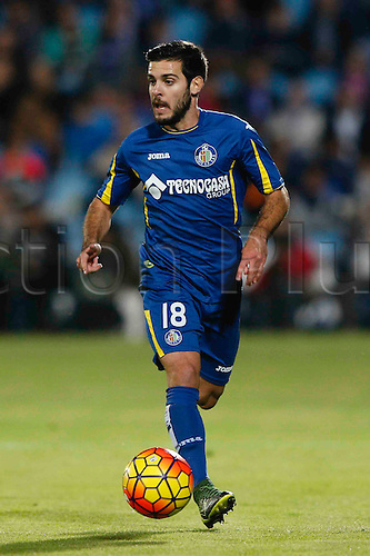 31.10.2015. Madrid, Spain.  Víctor Rodríguez Romero (18) Getafe  during the soccer match La Liga between Getafe CF and FC Barcelona at the Coliseum Alfonso Perez stadium in Madrid, Spain, October 31, 2015.