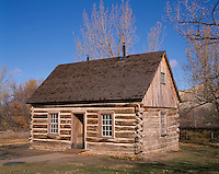 67NDTR_120 - USA, North Dakota, Theodore Roosevelt National Park, South Unit, Maltese Cross Cabin; this was Theodore Roosevelt's first cabin in the Dakota Territory, used from 1883-1884.