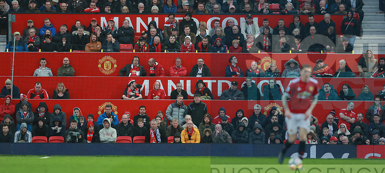 The Disabled seating area in the stadium during the premier league match at the Old Trafford Stadium, Manchester. Picture date 15th April 2018. Picture credit should read: Simon Bellis/Sportimage