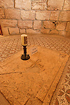 Jerusalem, Israel, The Byzantine altar and mosaic at the Church of Dominus Flevit on the Mount of Olives<br />