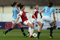 Viktoria Schnaderbeck of Arsenal Women and Jill Scott of Manchester City Women during Arsenal Women vs Manchester City Women, FA Women's Super League Football at Meadow Park on 11th May 2019