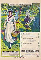 Europe/France/Aquitaine/47/Lot-et-Garonne/Granges-sur-Lot : Musée du Pruneau _ Affichette de promotion du Pruneau d'Agen