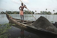 A sandminer of Alleppey, Kerala, india.