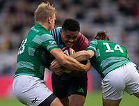 Harlequin's Francis Saili in action during todays match<br /> <br /> Photographer Bob Bradford/CameraSport<br /> <br /> Premiership Rugby Cup Round 2 Pool 1 - Harlequins v Newcastle Falcons - Sunday 4th November 2018 - Twickenham Stoop - London<br /> <br /> World Copyright &copy; 2018 CameraSport. All rights reserved. 43 Linden Ave. Countesthorpe. Leicester. England. LE8 5PG - Tel: +44 (0) 116 277 4147 - admin@camerasport.com - www.camerasport.com