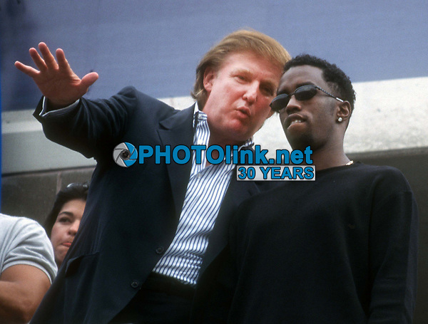 Donald Trump Sean Combs 1997<br /> Photo By John Barrett/PHOTOlink