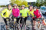 Cathy O'Connell, Niamh, Linda and Helen O'Connor and Eileen Dineen at the Pieta House cycle in Rathmore on Sunday