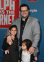 HOLLYWOOD, CA - NOVEMBER 5: Ava Gad, Josh Gad, at Premiere Of Disney's &quot;Ralph Breaks The Internet&quot; at The El Capitan Theatre in Hollywood, California on November 5, 2018. <br /> CAP/MPI/FS<br /> &copy;FS/MPI/Capital Pictures