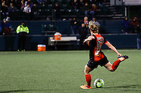 Rochester, NY - Friday April 29, 2016: Western New York Flash forward Kristen Hamilton (17). The Washington Spirit defeated the Western New York Flash 3-0 during a National Women's Soccer League (NWSL) match at Sahlen's Stadium.