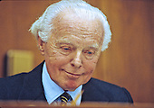 United States Representative Tom Lantos (Democrat of California), a member of the US House Foreign Relations Committee, is photographed on Capitol Hill on January 12, 1994.<br /> Credit: Ron Sachs / CNP
