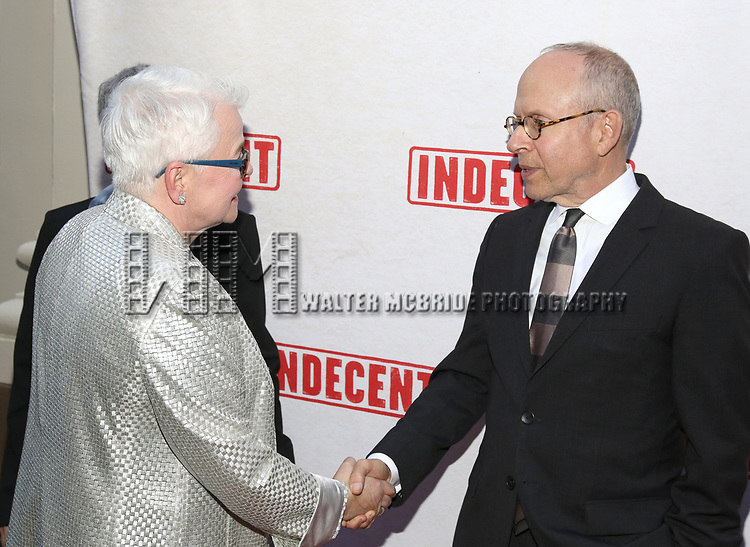 Paula Vogel and Bob Balaban attend the Broadway Opening Night Performance of  'Indecent' at The Cort Theatre on April 18, 2017 in New York City.