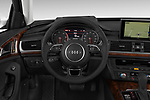 Car pictures of steering wheel view of a 2016 Audi A6 Competition 4 Door Sedan