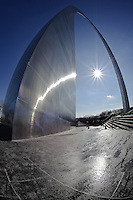 The Gateway Arch in St. Louis by Peter Wochniak