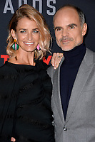 LOS ANGELES, CA. October 22, 2018: Michael Kelly &amp; Karen Kelly at the season 6 premiere for &quot;House of Cards&quot; at the Directors Guild Theatre.<br /> Picture: Paul Smith/Featureflash
