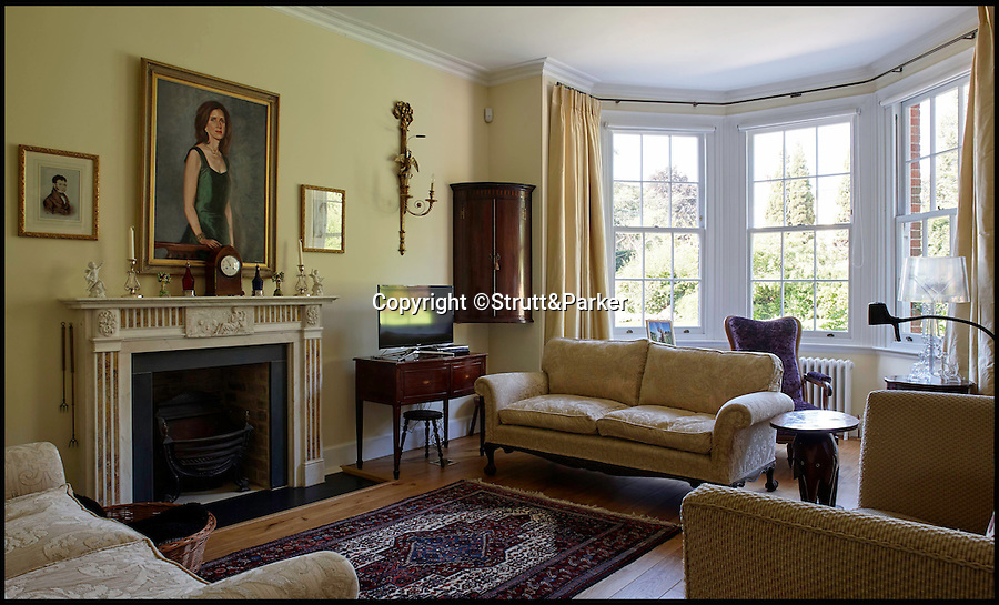 BNPS.co.uk (01202 558833)<br /> Pic: Strutt&Parker/BNPS<br /> <br /> The living room.<br /> <br /> A striking Georgian manor house that once hosted the scandalous menage-a-trois of Admiral Horatio Lord Nelson, his lover and her husband is on the market for £4.25million.<br /> <br /> The love triangle stayed at the property a couple of times in about 1801-1802, when Lord Nelson and Lady Emma Hamilton were two of the most famous people in the UK.<br /> <br /> Fir Hill was bought by the admiral's friend and colleague Captain Charles Powell Hamilton, who was also the cousin of Emma's husband Sir William Hamilton, in 1797.<br /> <br /> The house is in a picturesque spot in the South Downs National Park, at the heart of the Meon Valley in the village of Droxford, Hants.