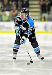 30 October 2010: University of Maine Black Bears' defenseman Will O'Neill, a Junior from Salem, MA, in action against the University of Vermont Catamounts at Gutterson Fieldhouse in Burlington, Vermont. The Black Bears defeated the Catamounts 3-2 in sudden death overtime. Mandatory Credit: Ed Wolfstein Photo