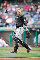 Tom Murphy (23) of the Albuquerque Isotopes during the game against the Salt Lake Bees at Smith's Ballpark on April 5, 2018 in Salt Lake City, Utah. Salt Lake defeated Albuquerque 9-3. (Stephen Smith/Four Seam Images)