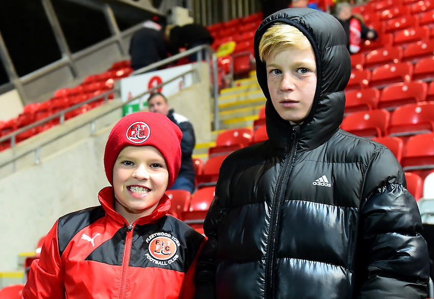 Fleetwood fans look on<br /> <br /> <br /> Photographer Richard Martin-Roberts/CameraSport<br /> <br /> The EFL Sky Bet League One - Fleetwood Town v Bradford City - Tuesday 14th February 2017 - Highbury Stadium - Fleetwood<br /> <br /> World Copyright &copy; 2017 CameraSport. All rights reserved. 43 Linden Ave. Countesthorpe. Leicester. England. LE8 5PG - Tel: +44 (0) 116 277 4147 - admin@camerasport.com - www.camerasport.com