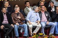 SÃO PAULO, SP - 27.09.2013: CANDIDATURA DO EMIDIO SOUZA PARA PRESIDENTE DO PT - Emidio de Souza, o Ex Presidente da República, Lula e o Ministro da Saúde Padilha durante o lançamento da candidatura de Emidio de Souza para Presidente estadual do Partido dos Trabalhadores (PT) ao lado do Ex presidente da República Lula, realizado na Casa Portugal, região central de São Paulo nesta sexta-feira (27). (Foto: Marcelo Brammer/Brazil Photo Press)