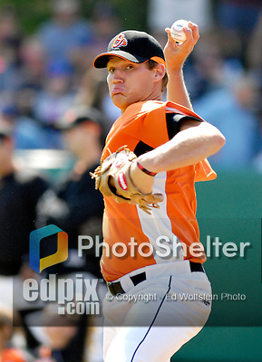 21 May 2007: Baltimore Orioles pitcher Dan Lonsberry in action against the Toronto Blue Jays at Doubleday Field during Baseball's Annual Hall of Fame Game in Cooperstown, NY. The Orioles defeated the Blue Jays 13-7 in front of a sellout crowd of 9,791 at the historical ballpark...Mandatory Credit: Ed Wolfstein Photo