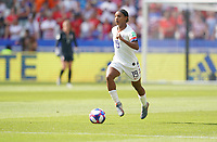 DECINES-CHARPIEU, FRANCE - JULY 07: Crystal Dunn #19 during the 2019 FIFA Women's World Cup France Final match between Netherlands and the United States at Groupama Stadium on July 07, 2019 in Decines-Charpieu, France.
