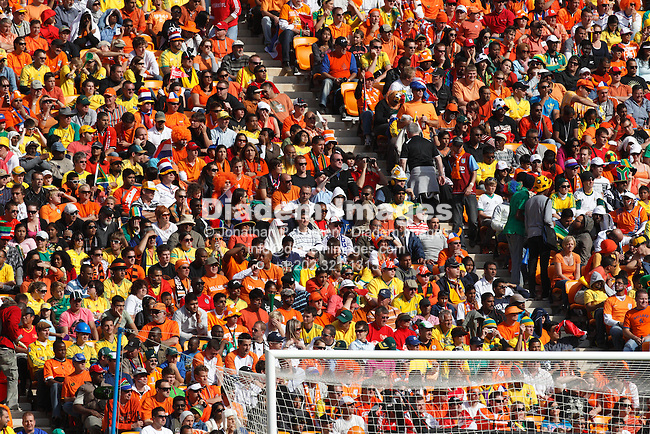 JOHANNESBURG - JUNE 14:  Spectators at a 2010 FIFA World Cup soccer match between the Netherlands and Denmark June 14, 2010 in Johannesburg, South Africa.  NO mobile use.  Editorial ONLY.  (Photograph by Jonathan P. Larsen)