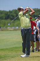 Hideki Matsuyama (JPN) hits his approach shot on 1 during round 2 of the AT&amp;T Byron Nelson, Trinity Forest Golf Club, at Dallas, Texas, USA. 5/18/2018.<br /> Picture: Golffile | Ken Murray<br /> <br /> <br /> All photo usage must carry mandatory copyright credit (&copy; Golffile | Ken Murray)