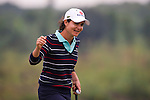 HAIKOU, CHINA - OCTOBER 31:  Lorena Ochoa of Mexico waves to the crowd on the 18th green during day five of the Mission Hills Start Trophy at Mission Hills Resort on October 31, 2010 in Haikou, China.  The Mission Hills Star Trophy is Asia's leading leisure liflestyle event and features Hollywood celebrities and international golf stars.  Photo by Victor Fraile / The Power of Sport Images