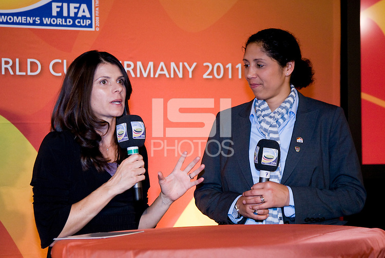 Mia Hamm, Steffi Jones. A Welcome USA reception for the FIFA Women's World Cup 2011 was held at the German ambassador's residence in Washington, DC.