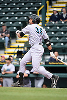 Jupiter Hammerheads first baseman Viosergy Rosa (35) during a game against the Bradenton Marauders on April 19, 2014 at McKechnie Field in Bradenton, Florida.  Bradenton defeated Jupiter 4-0.  (Mike Janes/Four Seam Images)