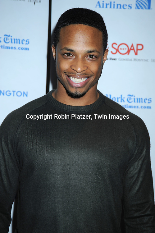 Cornelius Smith, Jr of All My Children attending The 6th Annual ABC And SOAPnet salute to BROADWAY CARES/ EQUITY FIGHTS AIDS Benefit post party on March 21, 2010 at The Marriott Marquis Hotel in New York City.