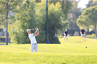 Haotong Li (CHN) plays his 2nd shot on the 16th hole during Sunday's Final Round of the 2018 Turkish Airlines Open hosted by Regnum Carya Golf &amp; Spa Resort, Antalya, Turkey. 4th November 2018.<br /> Picture: Eoin Clarke | Golffile<br /> <br /> <br /> All photos usage must carry mandatory copyright credit (&copy; Golffile | Eoin Clarke)