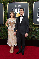 Joanna Newsom and Andy Samberg, host, arrive at the 76th Annual Golden Globe Awards at the Beverly Hilton in Beverly Hills, CA on Sunday, January 6, 2019.<br /> *Editorial Use Only*<br /> CAP/PLF/HFPA<br /> Image supplied by Capital Pictures