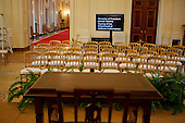 Washington, DC - October 28, 2009 -- The teleprompter is seen at the back of the East Room of the White House following the signing ceremony for the National Defense Authorization Act for Fiscal Year 2010, October 28, 2009..Mandatory Credit: Chuck Kennedy - White House via CNP