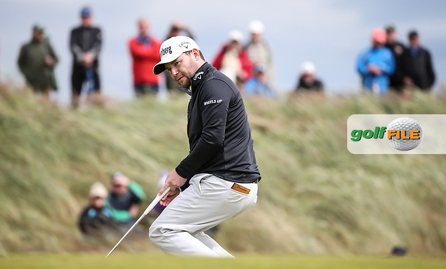 Branden Grace (RSA) during Round One of the 2016 Aberdeen Asset Management Scottish Open, played at Castle Stuart Golf Club, Inverness, Scotland. 07/07/2016. Picture: David Lloyd | Golffile.<br /> <br /> All photos usage must carry mandatory copyright credit (&copy; Golffile | David Lloyd)