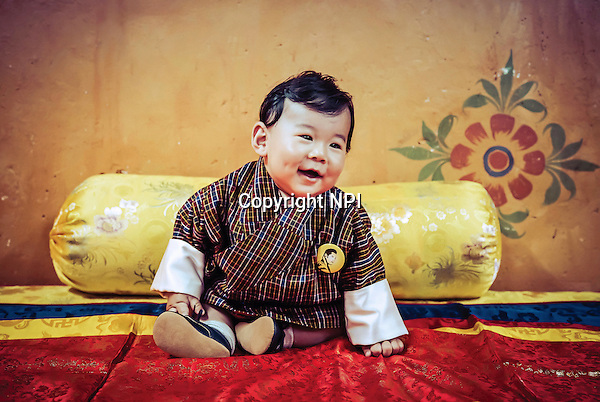 01.09.2016; Thimpu Bhutan: PRINCE JIGME OF BHUTAN<br />Adorable images of His Royal Highness The Gyalsey, as photographed by His Majesty The King.<br />Prince Jigme was born on 5th February 2016.<br />Mandatory Credit Photo: &copy;Royal Palace/NEWSPIX INTERNATIONAL<br /><br />(Failure to credit will incur a surcharge of 100% of reproduction fees)<br />IMMEDIATE CONFIRMATION OF USAGE REQUIRED:<br />Newspix International, 31 Chinnery Hill, Bishop's Stortford, ENGLAND CM23 3PS<br />Tel:+441279 324672  ; Fax: +441279656877<br />Mobile:  07775681153<br />e-mail: info@newspixinternational.co.uk<br />Please refer to usage terms. All Fees Payable To Newspix International