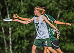 3 June 2016: Sharon Academy plays St. Johnsbury Academy in the first round of the VYUL State Ultimate Disk Championships at Bombardier Park in Milton, Vermont. Mandatory Credit: Ed Wolfstein Photo *** RAW (NEF) Image File Available ***
