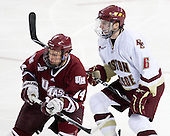 T.J. Syner (UMass - 14), Patrick Wey (BC - 6) - The Boston College Eagles defeated the University of Massachusetts-Amherst Minutemen 2-1 (OT) on Friday, February 26, 2010, at Conte Forum in Chestnut Hill, Massachusetts.