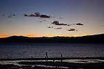 Sunset on Lake Tahoe in Kings Beach, Calif., January 19, 2011.