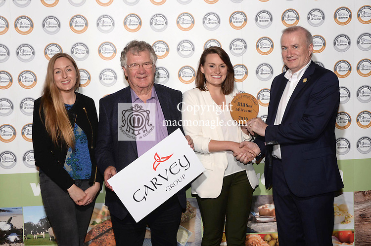 Kirsty Sweetnam, Free Birds Bakery, with Rebecca O'Keeffe, Taste of Cork, Tomas Garvey, Garvey Group and John Sheehy at the Blas na hEireann / Irish Food Awards in Dingle at the weekend.<br /> Photo: Don MacMonagle<br /> <br /> REPRO FREE PHOTO WITH BLAS NA HEIREANN<br /> further info: Barbara Collins - collib40@googlemail.com
