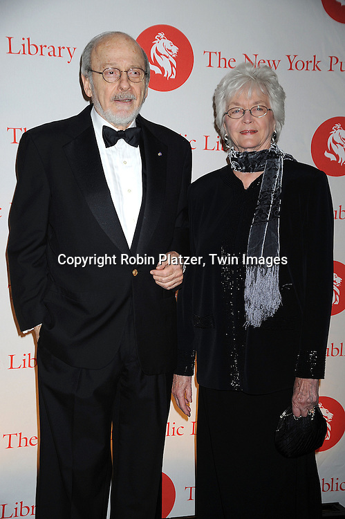 EL Doctorow and wife ..arriving at The New York Public Library 2008 Library Lions Benefit Gala on November 3, 2008 at The New York Public Library at 42nd Street and 5th Avenue.....Robin Platzer, Twin Images
