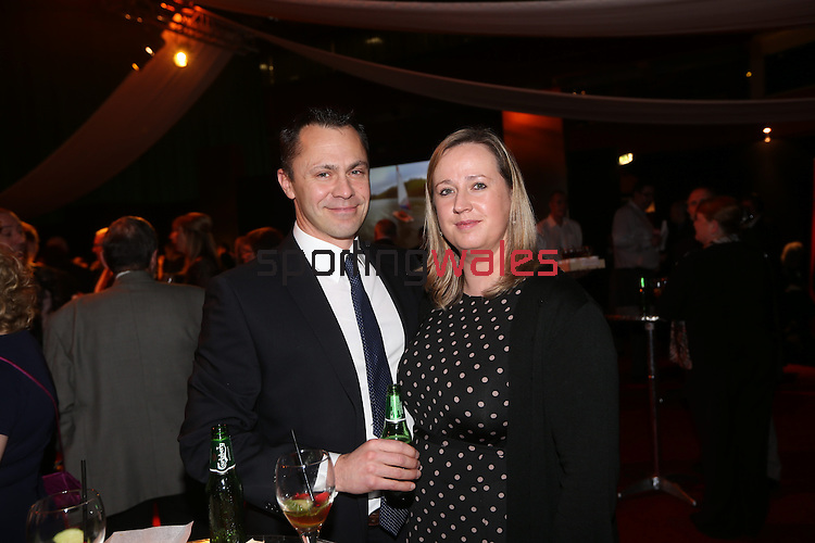 Wales Sport Awards 2013<br /> Chris Terry and Liz Terry<br /> 09.11.13<br /> ©Steve Pope-SPORTINGWALES