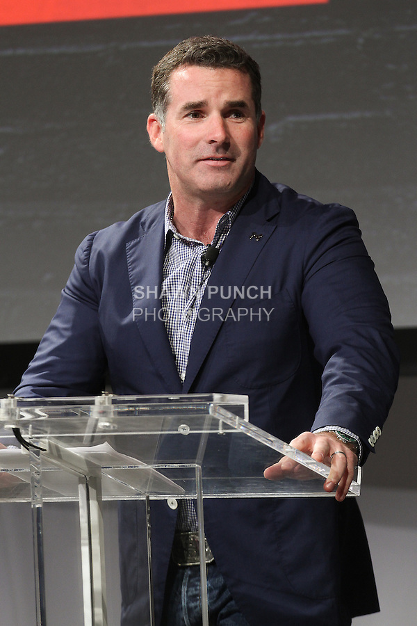 """Kevin Plank, CEO and Founder of Under Amour, speaks at the Under Armour, """"I will what I want"""" global women's campaign launch, on July 31, 2014, in New York City."""