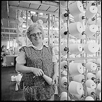 Creel tender, Arbeka Webbing, Pawtucket, RI 1974