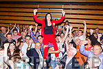 Maura Healy-Rae celebrates with her supporters at the Killarney Count Centre on Sunday