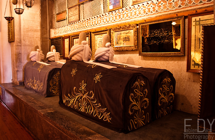 Mevlana was a famous sufi, founder of the whirling dervishes order. Here are two tumbs of sufis buried next to their master in mevlana's mausoleum in Konya.