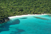 View of Hawksnest Bay<br /> with large school of fryfish<br /> Virgin Islands National Park<br /> St. John, U.S. Virgin Islands