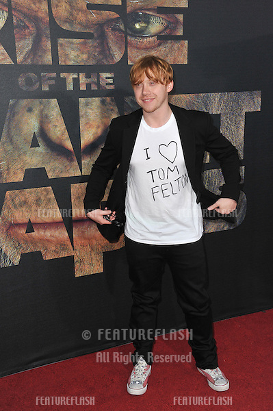 "Rupert Grint at the Los Angeles premiere of ""Rise of the Planet of the Apes"" at Grauman's Chinese Theatre, Hollywood..July 28, 2011  Los Angeles, CA.Picture: Paul Smith / Featureflash"
