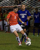 The number 24 ranked Furman Paladins took on the number 20 ranked Clemson Tigers in an inter-conference game at Clemson's Riggs Field.  Furman defeated Clemson 2-1.  Kyle Fisher (2), Tyler Peoples (15)