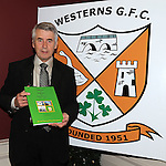 Refelections on Reaghstown and Westerns GFC 1951-2011 author Brendan Matthews pictured with his book ast it's launch in Dooley's restaurant Edmondstown. Photo: Colin Bell/pressphotos.ie